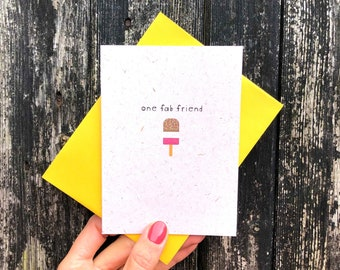 Best Friend Card, Friend Birthday Card, Fab Friend Card, Birthday Card, Lolly Card, Friend Card, Recycled Card, Birthday Card For Her