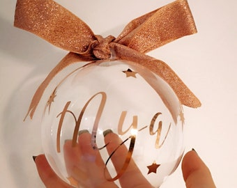 Personalised XL fillable Christmas bauble