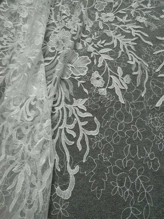 Tissu broderie dentelle broderie Tissu mariage robe tulle dentelle tissu fleuri, robe de mariée dentelle par yard 6c909a