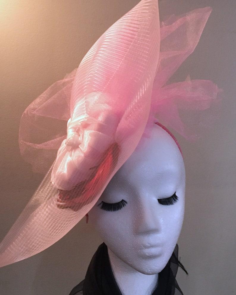 Dramatic Pink Fascinator ZEN image 0
