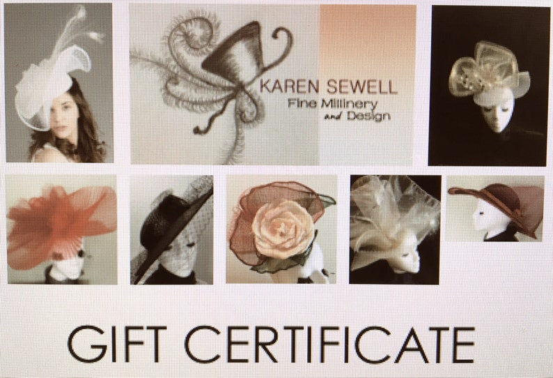 GIFT CERTIFICATEgift cardGift for fashion or hat loverbuy image 0
