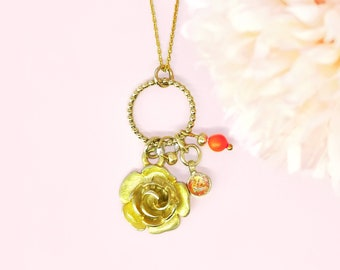 Circle Ball with Charms - chain with pendant