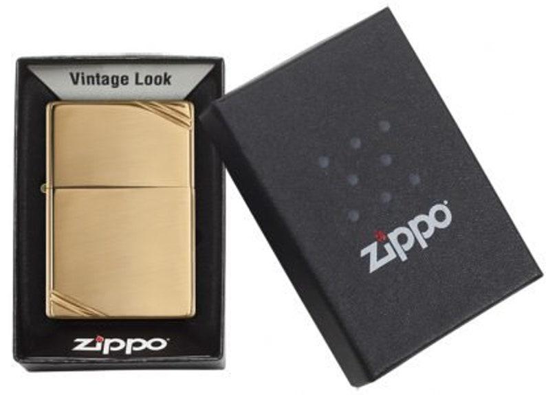 Customized Zippo Vintage High Pl. Brass Lighter Birthday image 0
