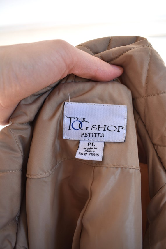 Tan Quilted Puffer Jacket - image 8
