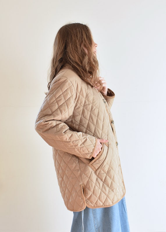 Tan Quilted Puffer Jacket - image 5
