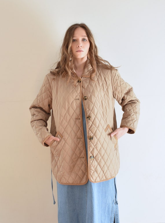 Tan Quilted Puffer Jacket - image 1