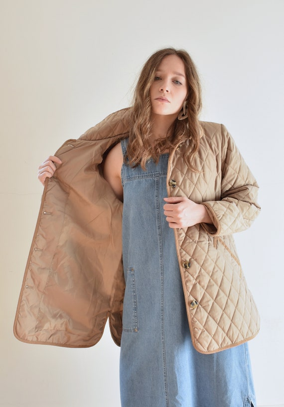 Tan Quilted Puffer Jacket - image 7