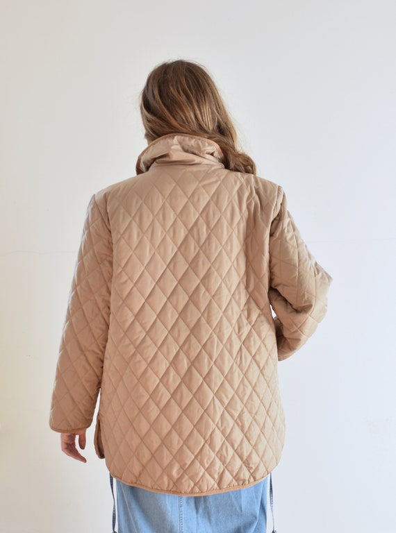 Tan Quilted Puffer Jacket - image 6