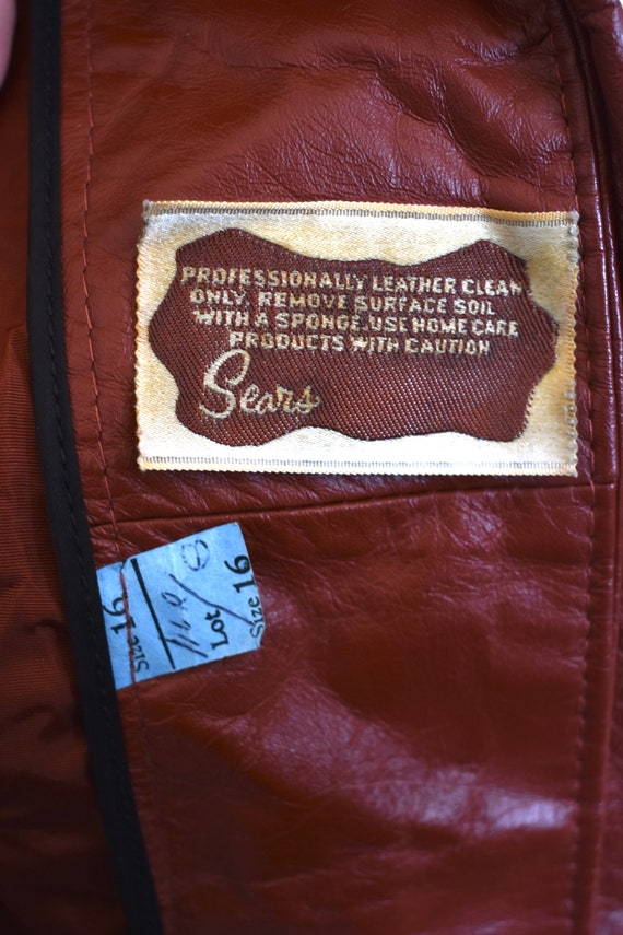 Vintage 70's Red Leather Trench Coat - image 8