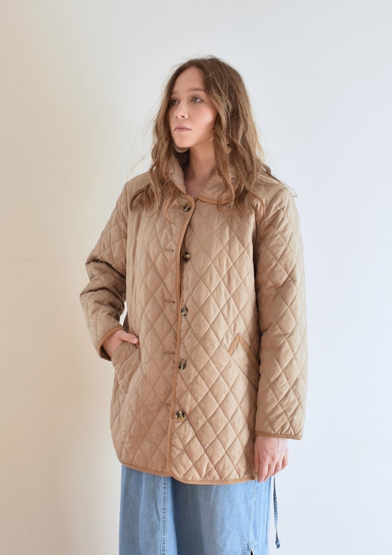 Tan Quilted Puffer Jacket - image 4