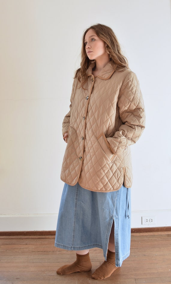Tan Quilted Puffer Jacket - image 2