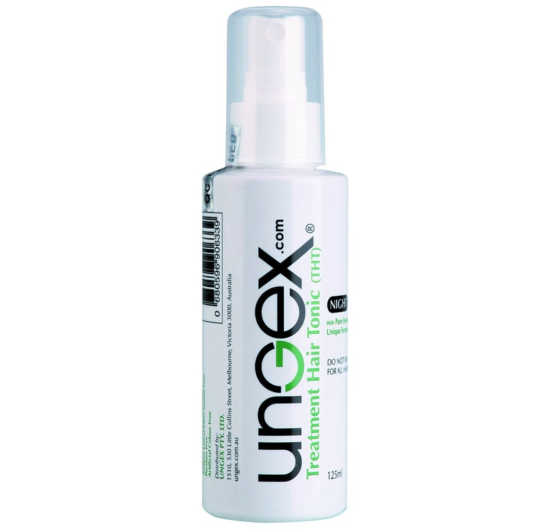 Ungex Treatment Hair Tonic - THT - Demodex Mites Solution for Hair Loss,  Baldness, Alopecia, Areata Patchy, Thin Hair and Dandruff