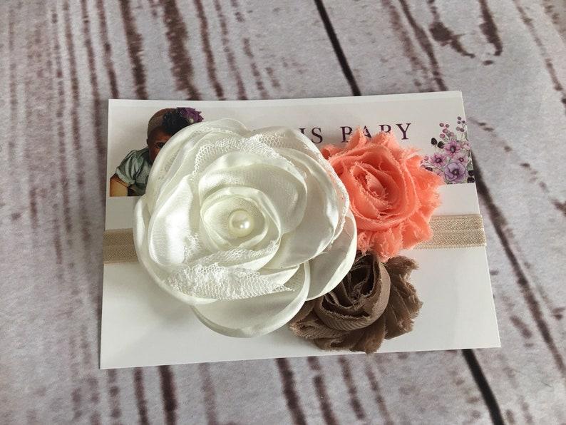 Floral Headband Baby Headband Baby Headpiece Flower Headpiece Flower Headband Baby Shower Floral Headpiece Baby Photo Prop