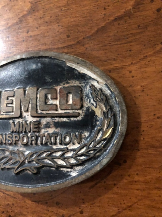 Memco Mine Transportation Brass Belt Buckle
