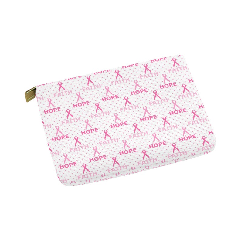 Fight Like a Girl WalletCarry-All Pouch Breast Cancer Awareness Month Accessories Zipper Canvas Change Money Accessory Bag Gift Idea