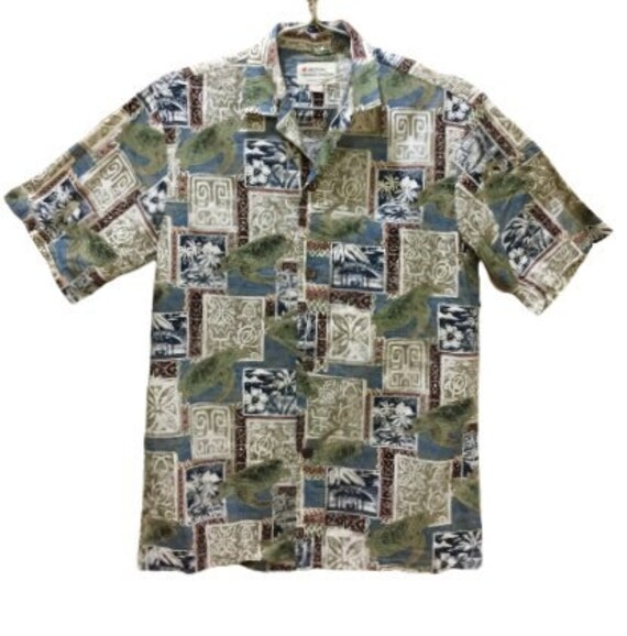 Hawaii 80s Vintage Shirt Over print Deadstock