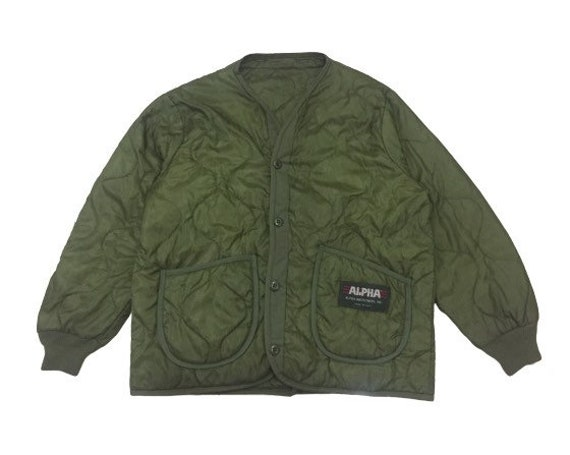 Army Jacket Alfa Industries Military Clothing 80s