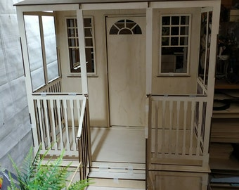 house with stairs and a large veranda 1/4,1/6