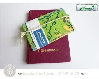 travel utensils from world maps luggage tags travel tag hand sewn by juleria9 Suitcase tags from maps handmade upcycling