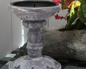 Small candle holder in the shabby vintage look candlestick