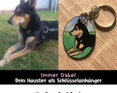 Personalized Pet Keychain Hand Painted