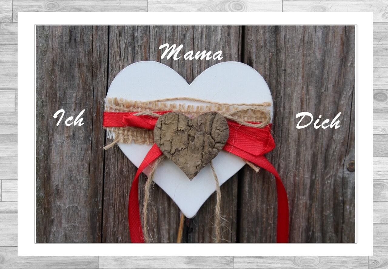 Bilderrahmen Mama ich liebe dich Geschenk für Mama | Etsy