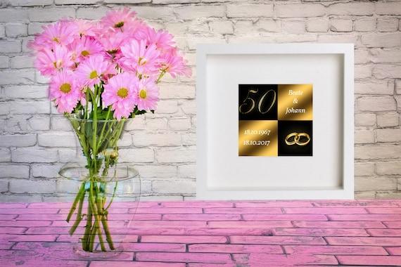 Bilderrahmen Goldene Hochzeit Geschenk 50 Jahre Etsy