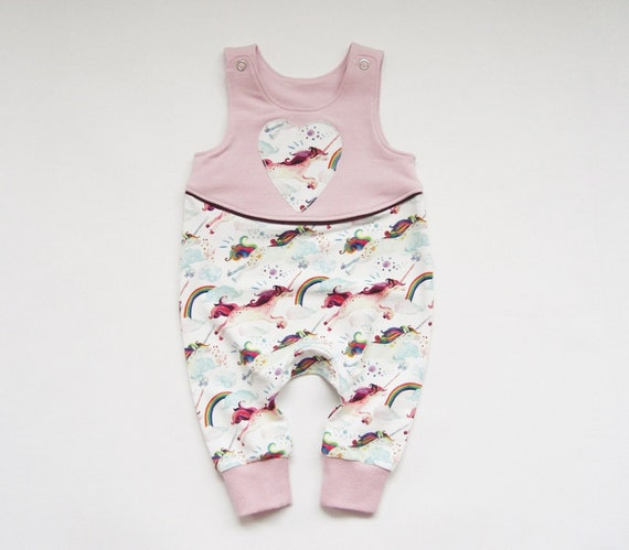 Sonderrabatt High Fashion süß Baby romper size 62 in sweat fabric, unicorns, jumper, baby suit, baby  overall