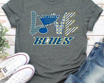 online store 12ca2 87a40 St louis blues shirt | Etsy