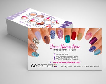 Business cards etsy color street business card design painted fingernails fast personalization and change digital business cards home office business card reheart Gallery