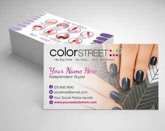 Color street business cards etsy color street business card design jewel of mumbai fast personalization and change digital business cards home office business card reheart Choice Image