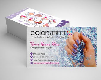 Color street business cards etsy popular items for color street business cards colourmoves