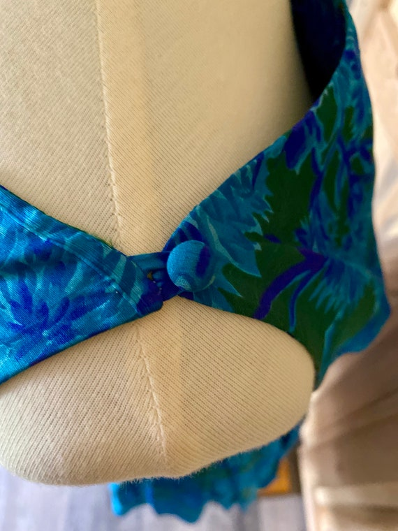 Vintage 1950s Naturally Natlynn NY Blue Floral, F… - image 6