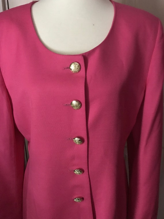 Christian Dior 1980s Hot Pink Power Suit - image 7
