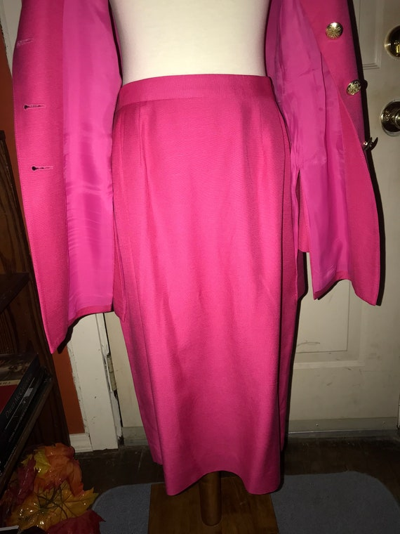 Christian Dior 1980s Hot Pink Power Suit - image 8