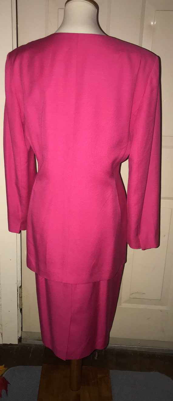 Christian Dior 1980s Hot Pink Power Suit - image 2