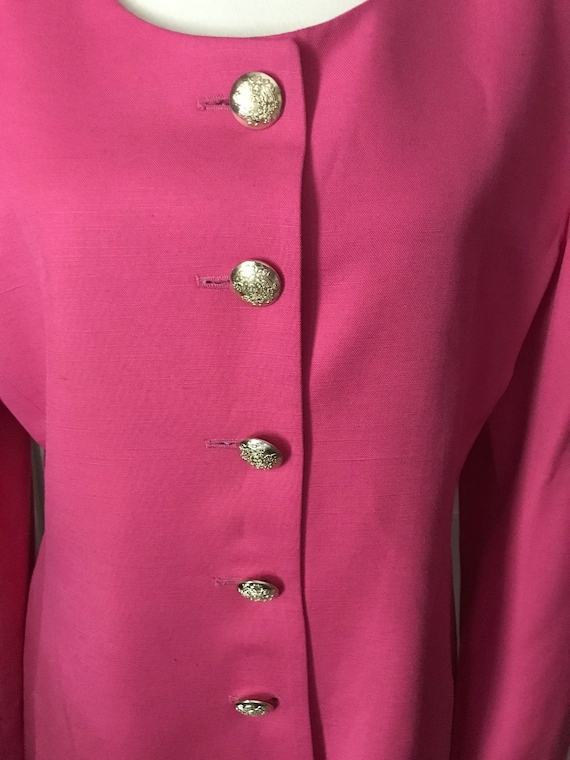 Christian Dior 1980s Hot Pink Power Suit - image 5