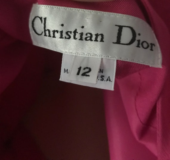 Christian Dior 1980s Hot Pink Power Suit - image 4