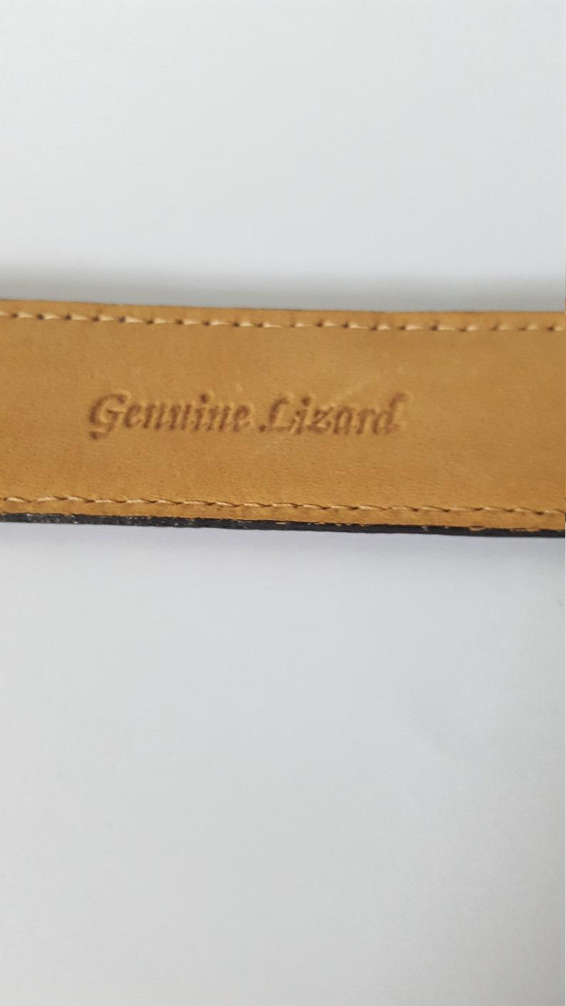 Genuine Lizard Women\u2019s Belt with gold buckle GENUINE LIZARD BELT Vintage Lizard Belt