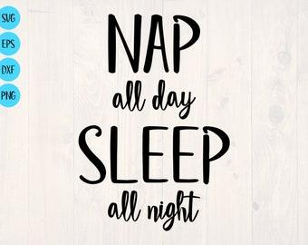 Nap All Day Sleeping Sloth Graphic Design Funny Metal Sign Sleep All Night