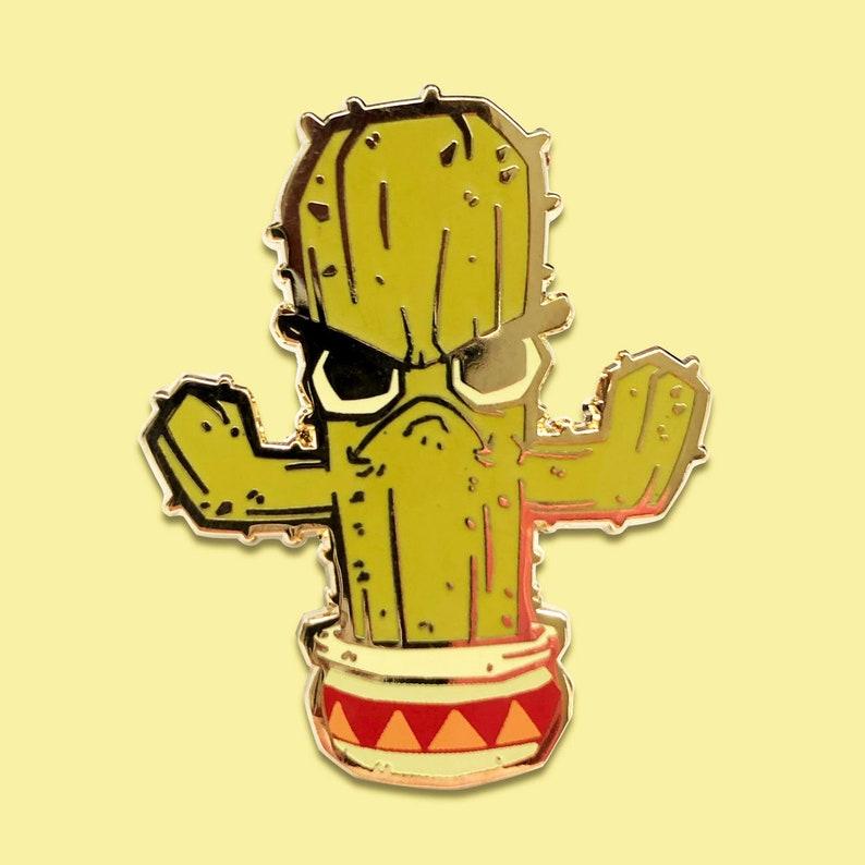 Cranky Cactus Enamel Pin