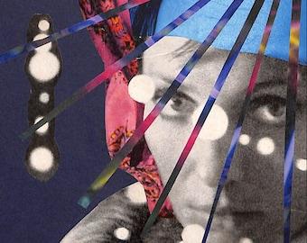 Collage Print #3: Prism Blues