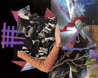 Collage Print #1: Keeping out the Underworld