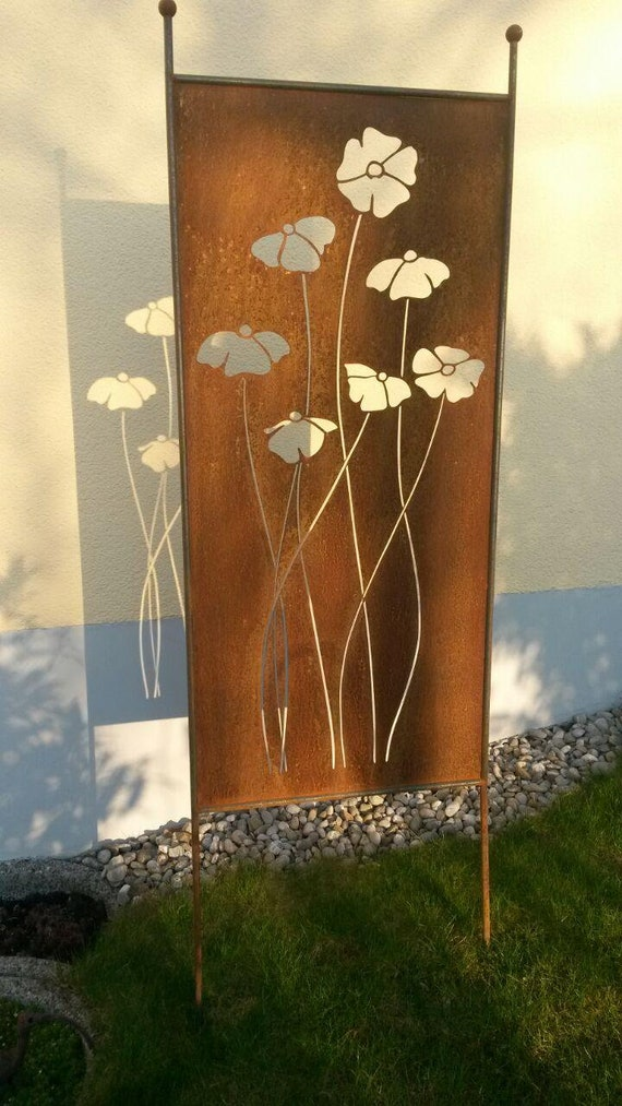 Visual Protection Poppy Downstairs Patina Sculpture Stele Etsy