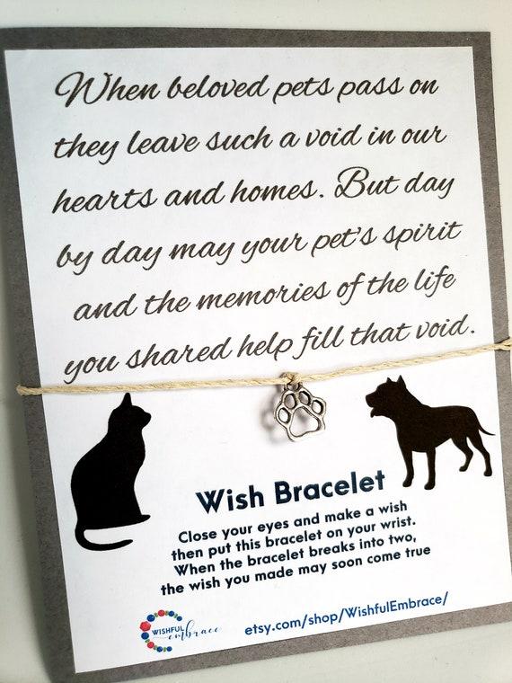 dog memorial gift pet gift Christmas pet memorial gifts Pet loss gift for pet loss sympathy cards gifts pet gift wish bracelet