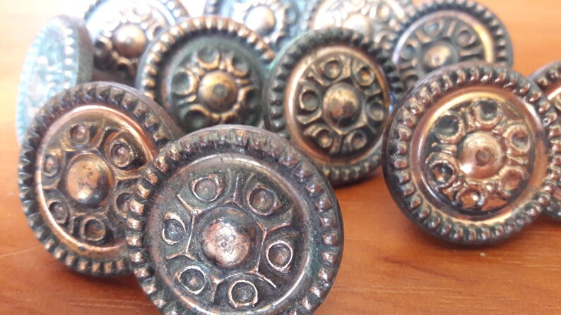 old pulls made in ussr Vintage small cabinet knob brass like pulls soviet plastic drawer pull round knobs for furniture