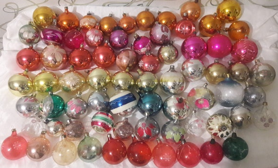 Red Christmas Ball Ornaments.Assorted Christmas Ball Ornaments Glass Ornament Soviet Red Ball Ornaments Big Red Glass Balls Christams Ornaments From 1960s