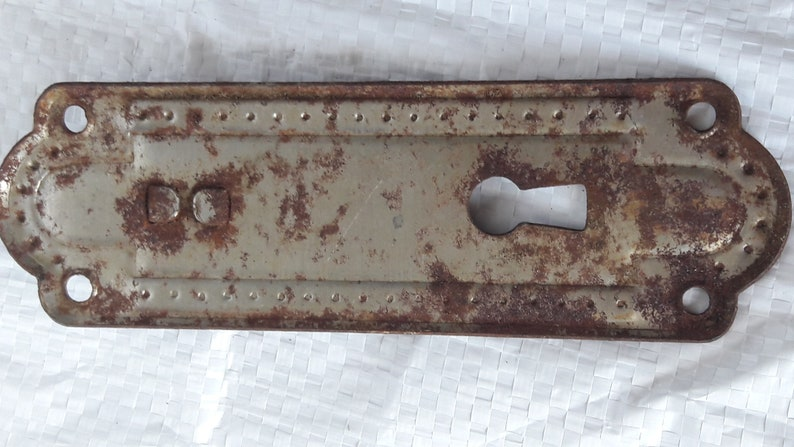 Vintage small cabinet knob old metal pulls rustic knob with keyhole old pulls made in ussr soviet rusty drawer pull