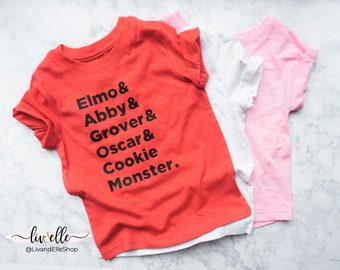 Toddler Elmo Shirt Etsy