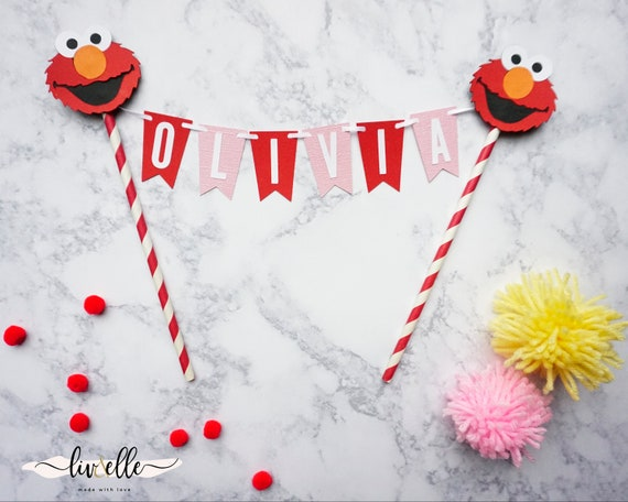 Elmo Cake Topper Customize Name Age And Colors